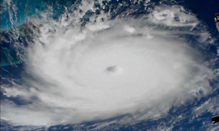 Hurricane Dorian satellite image 700x420