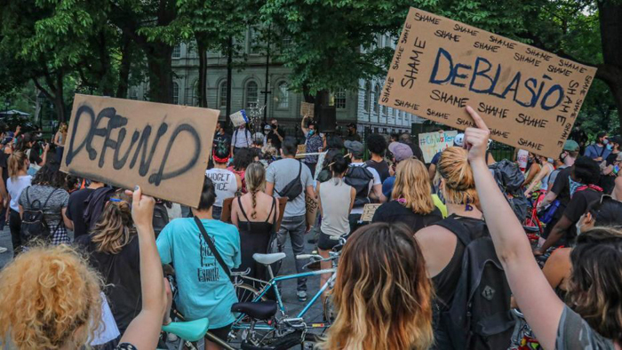 The far-left Democrats who are busy running New York City into the ground just surrendered America's largest metropolis to the mob. Mayor Bill de Blasio and the radical City Council on Wednesday slashed the New York Police Department's $6 billion budget by $1 billion, or 16.6 percent. In normal times, this would be a risky move, at best. Amid Gotham's soaring crime rate, this is akin to firing lifeguards while a beach gets lashed by riptides. The NYPD's latest statistics show a city bashed by powerful criminal currents. Compare Jan. 1 to June 21 this year with 2019's like period: Murder is up 24 percent. Shooting incidents have risen 36 percent. Shooting victims have climbed 42 percent. MICHAEL GOODWIN: DE BLASIO'S COWARDLY POLICE BUDGET CUT WILL HURT NEW YORK CITY For the week of June 15 to June 21 this year versus those dates in 2019: Shooting incidents jumped an astounding 342 percent. Shooting victims rocketed even higher, by 414 percent. Last weekend's shooting of two, one fatally, near Madison Square Park confirms that severe violence now terrorizes neighborhoods where even nasty looks had grown rare. More from Opinion Cardinal Timothy Dolan: Stop demonizing New York Police Department, for God's sake Kay Coles James: Nation's values under attack — we must do this to stop the left's socialist agenda Tammy Bruce: Trump prioritizing law and order with move to protect monuments from mob Thus, this is an inopportune time to cancel two of the next four rookie classes entering the Police Academy, even as NYPD's uniformed headcount will plunge by 1,163 officers, and retirements have accelerated 49 percent versus this time last year. These retreats are atop June's dismissal of NYPD's legendary and highly effective plainclothes unit. No more undercover cops in New York. What could go wrong? placeholder For the week of June 15 to June 21 this year versus those dates in 2019: Shooting incidents jumped an astounding 342 percent. Shooting victims rocketed even higher, by 41