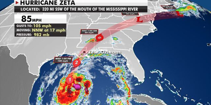 Hurricane Zeta expected to become even stronger before it makes landfall in Louisiana