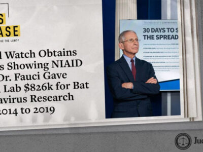Judicial Watch Obtains Records Showing NIAID under Dr. Fauci Gave Wuhan Lab $826k for Bat Coronavirus Research From 2014 to 2019